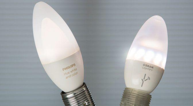 E14-Kerzenlampen: Hue und Lightify im Vergleich