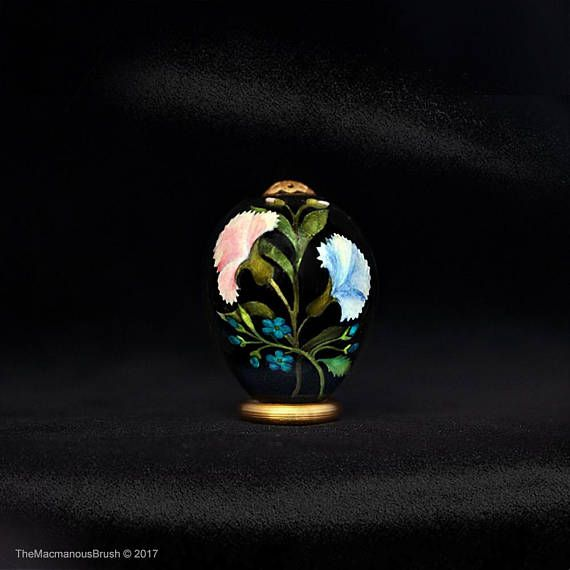 #Quail egg, #Carnations and #forget-me-not, Green #leaves, #garden, #easteregg, #springstyle
