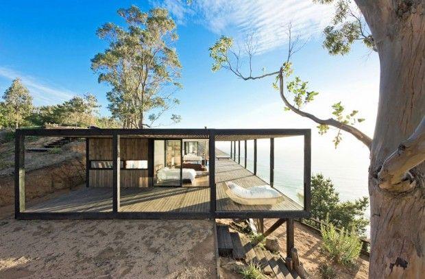 Casa Till, WMR Arquitectos, maison dans la falaise