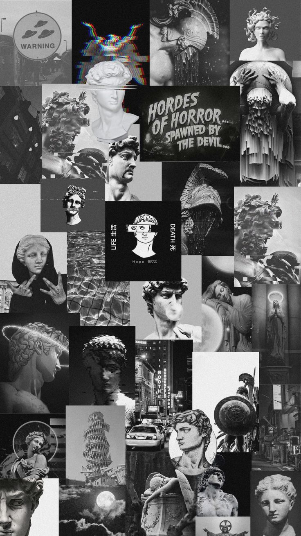 black and white blackandwhite rennaisanceart grunge