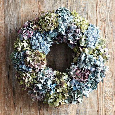 DIY | Hortensia krans maken • Stijlvol Styling - Woonblog
