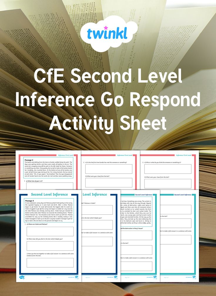 Inference Worksheets Twinkl Go Respond Inference Inference Activities Reading Skills