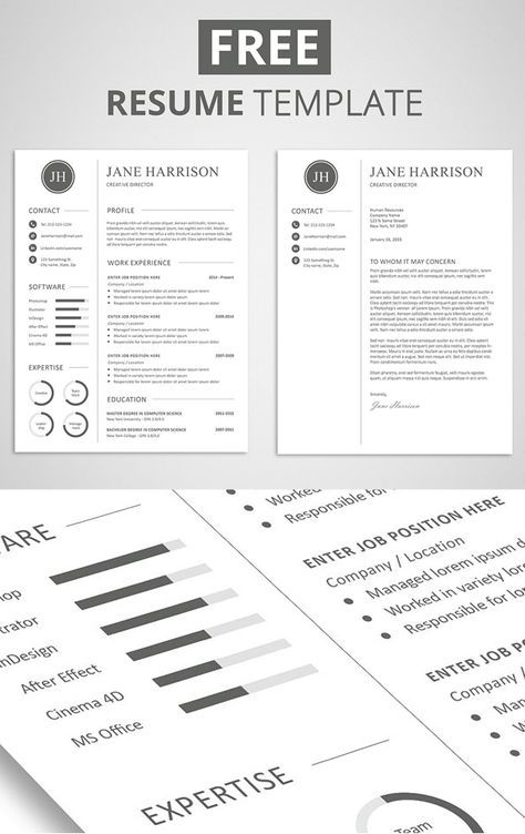 Oltre 25 fantastiche idee su Resume template free su Pinterest - free business resume templates