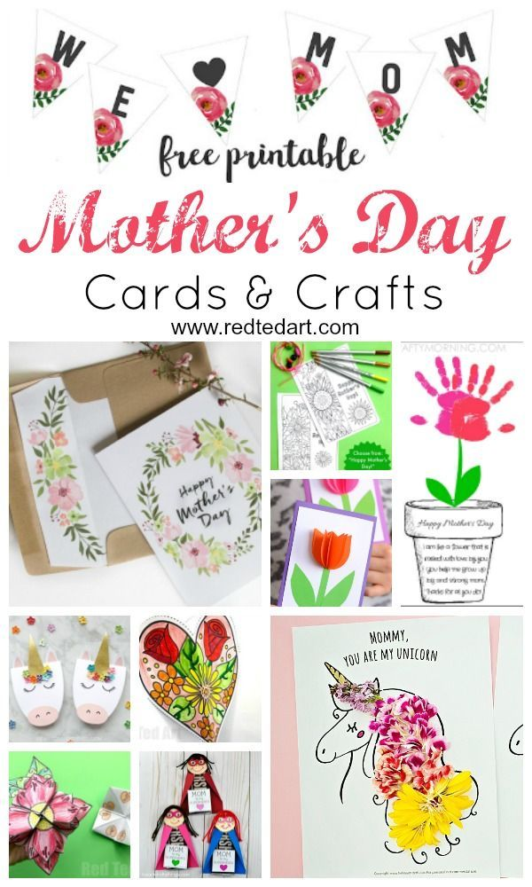 Printable Mother S Day Cards Crafts Red Ted Art Make Crafting With Kids Easy Fun Mothers Day Cards Craft Mothers Day Cards Mothers Day Crafts