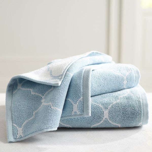 Pier 1 Imports Moorish Tile Sky Blue Hand Towel ($15) ❤ liked on Polyvore featuring home, bed & bath, bath, bath towels, blue, blue bath towels, pier 1 imports and blue hand towels