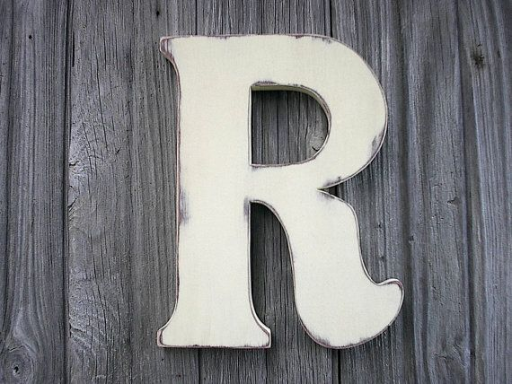 distressed wood letters wooden letters r 12 quot antique white distressed rustic cabin 21380
