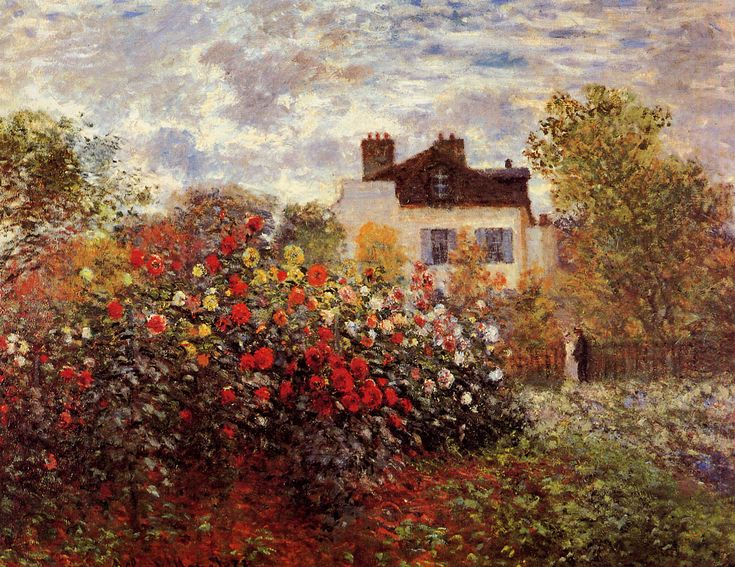 "Claude Monet ""Monet's garden in Argenteuil Sun"":"