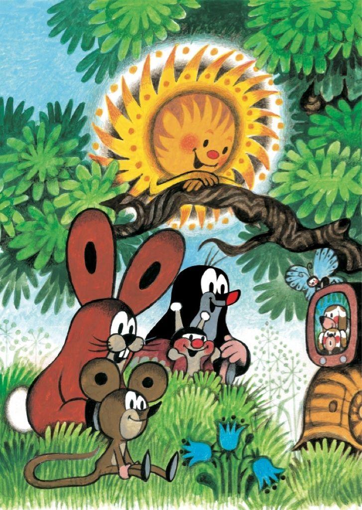 (2014-07) Muldvarpen ser fjernsyn med solen, haren, sneglen og musen