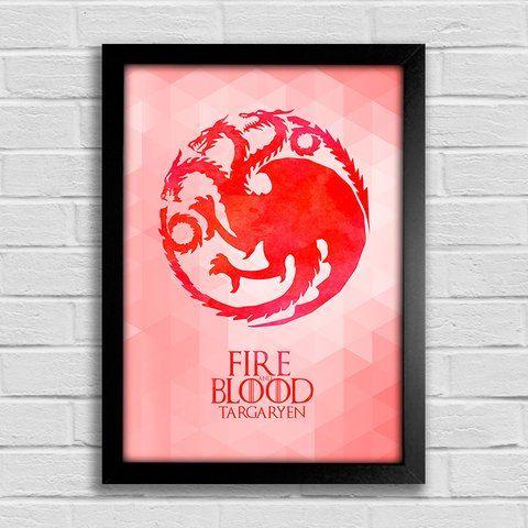 Poster Game of Thrones - Fire and Blood - Targaryen - comprar online