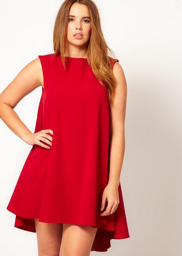 vestidos rojos cortos para gorditas
