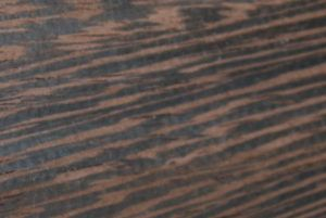 Wenge is a great species of wood to make a wooden ring with. The streaks of black and dark brown are beautiful, and the wood is very durable.