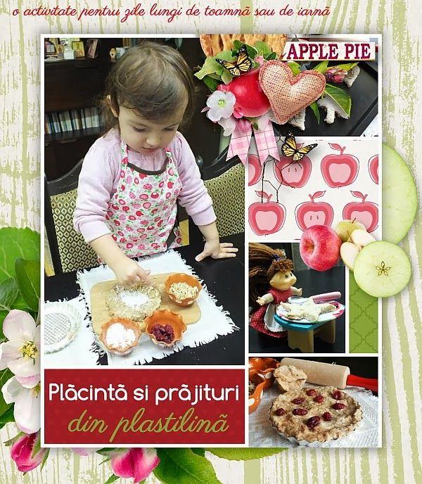 Invitatie la joaca - Placinta de mere si prajituri din plastilina - Clipe Frumoase cu Ema