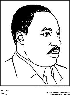 Coloring Page Martin Luter King Jr