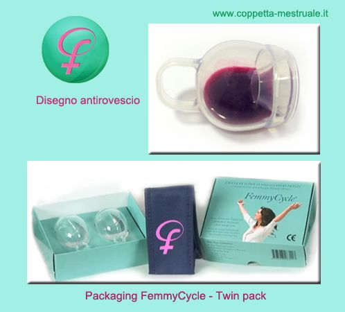 Femmycycle: l'unica coppetta con disegno antirovescio.  The only menstrual cup with No spill design. Buy from: https://www.coppetta-mestruale.it/femmycycle.php