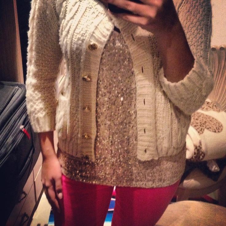 Mi outfit de hoy: mezclando texturas y llevando de día a mis amadas lentejuelas
