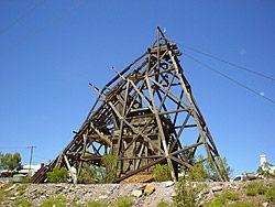 The headframe at the Gwalia mine