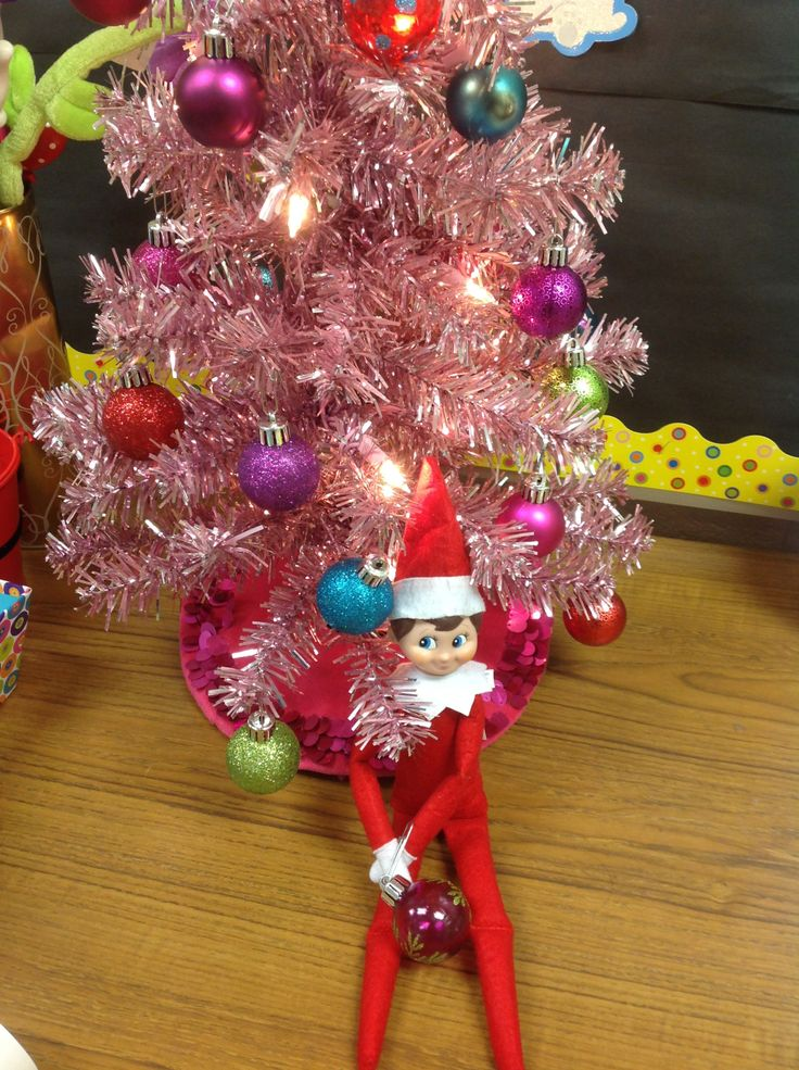 He's already decorating for #Christmas... #elfontheshelf