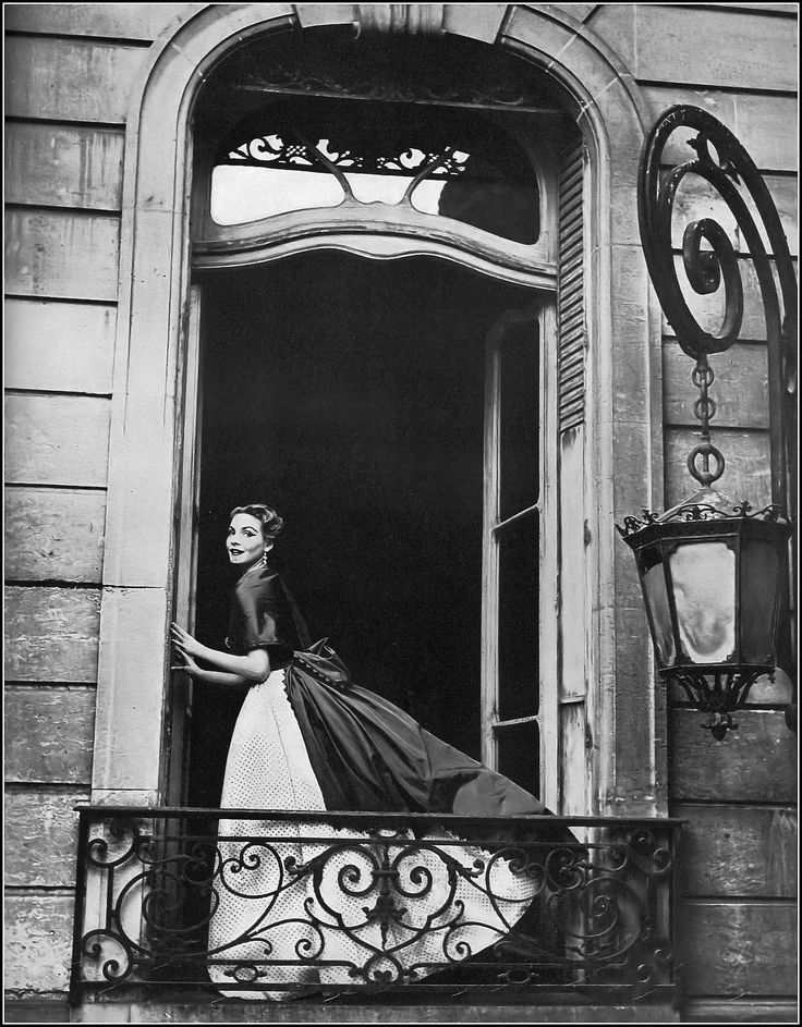 Cherry Nelms in evening ensemble by Manguin, photo by Karen Radkai, Harper's Bazaar, April 1952 | by skorver1