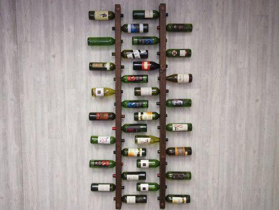 * Bodegas llena botellas de la vino  Estos bastidores de 16 botellas de vino trabajan juntos en perfecta armonía. Tallada de ásperos acentos de cobre envejecidos y madera, entrelace juntos para optimizar el espacio. El diseño también es perfecto para la preservación de corcho. En el 70 de altura, que se ajusta cómodamente con más altura  ¿Desea personalizar su botellero??? Ofrecemos una tira de cobre que puede ser grabada con apellidos, fechas u otras cosas únicas. Siga el enlace de abajo…