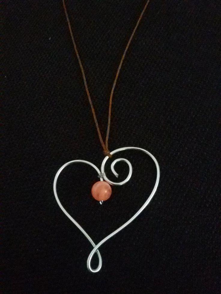 Collana con ciondolo a cuore wire, by Roba Da Donne Accessori, 5,00 € su misshobby.com
