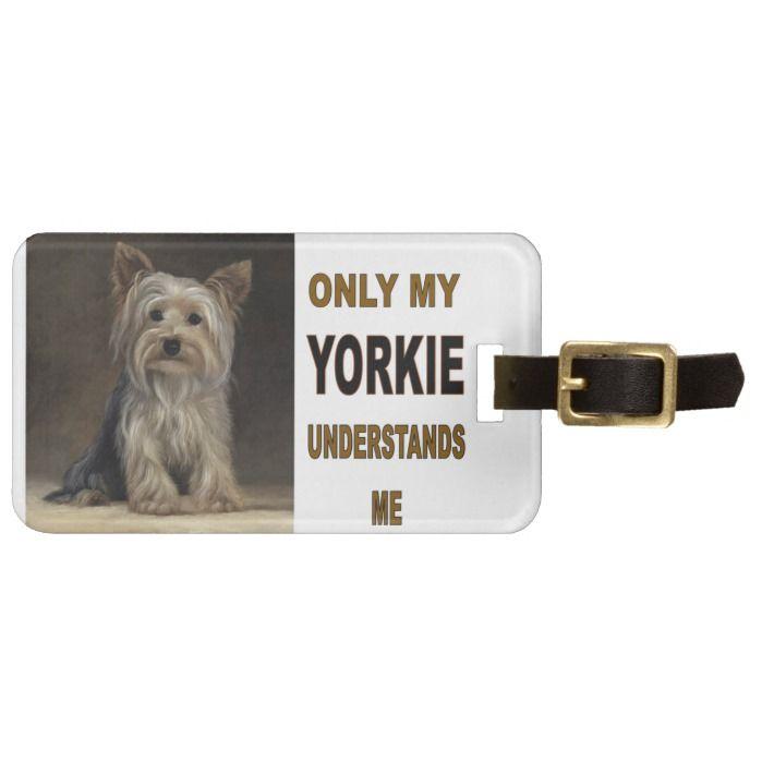 Yorkie Luggage Tag