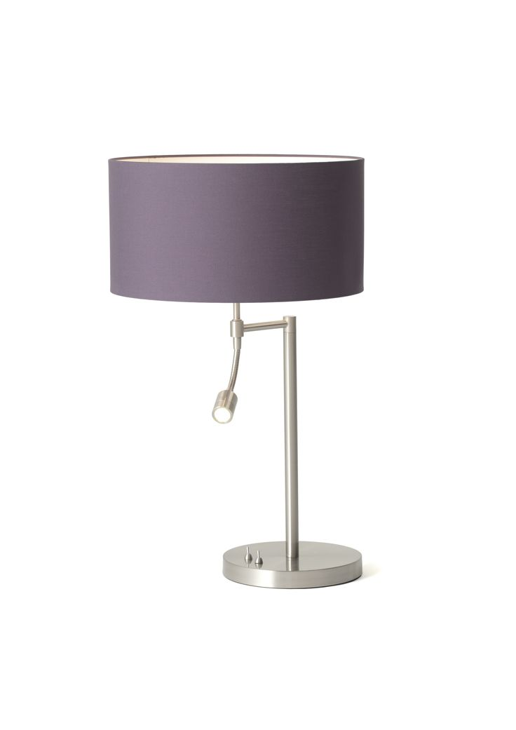 Oslo Table Lamp With Polycotton Purple Shade