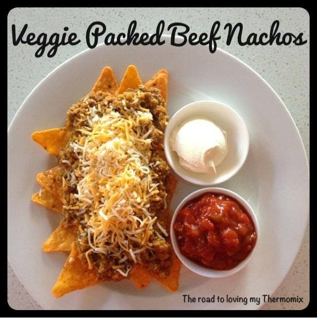 Veggie Packed Beef Nachos