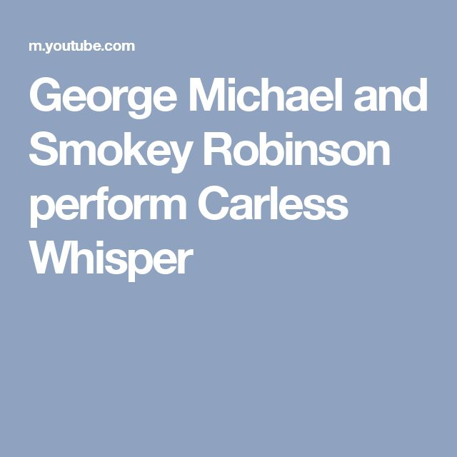 George Michael and Smokey Robinson perform Carless Whisper