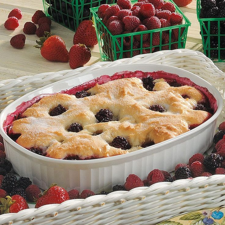 Healthy Blackberry Cobbler Recipe -This tasty treat has helped my family stay healthy, lose weight and still be able to enjoy dessert! Other kinds of berries or even fresh peaches are just as delicious in this cobbler. —Leslie Browning of Lebanon, Kentucky