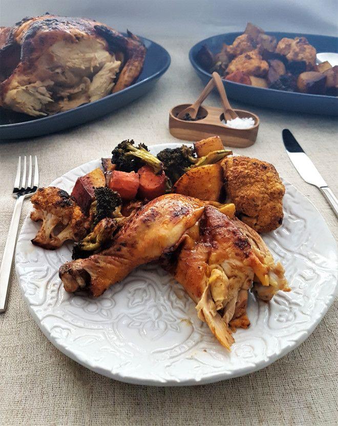 Pollo rostizado con paprika ahumada/ Roasted chicken with smoked paprika