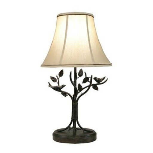 Style Craft BP8168DS Aged Bronze Iron Bird and Leaf Table Lamp