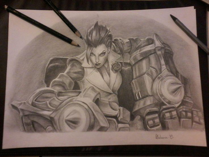 Vi - LOL - League of Legends - Drawing