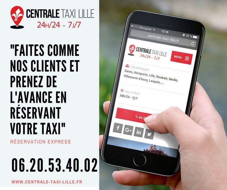 Réservez un taxi à Lille. Faites commes nos clients et prenez de l'avance en réservant par internet ou par téléphone. #taxilille #centraletaxilille