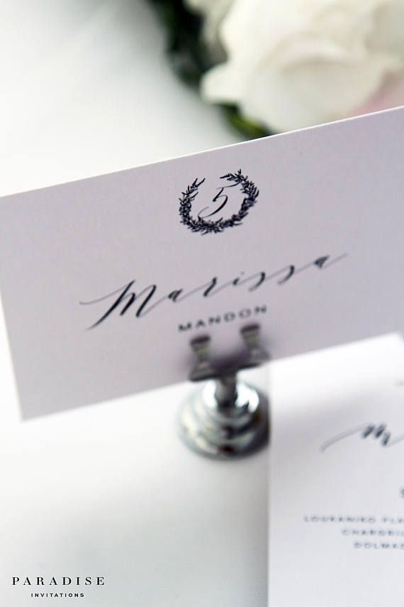 place card sizes