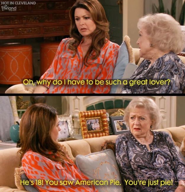Top Quotes From Betty White On This Season Of Hot In Cleveland: Laughing, Cleveland Rocks, Cleveland 2010, Betty White, Movie Tv Quotes, Funny, Movietv Quotes, Hot In Cleveland, Tops Quotes