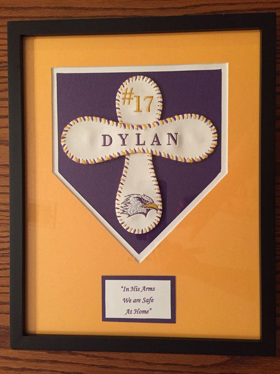 Baseball cross 11x14 by AmysWoodenStitches on Etsy