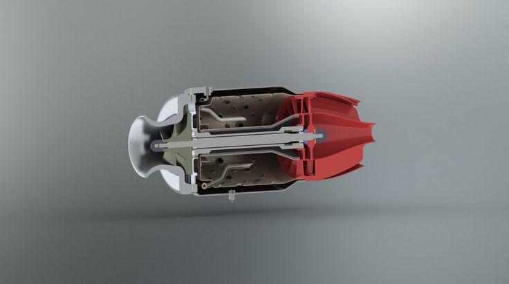 3D Printed Jet Engine #3dPrintedMilitaryAerospace
