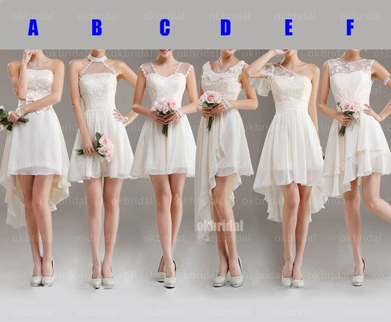 Ooh, I like E lace bridesmaid dresses mismatched bridesmaid dresses by okbridal, $129.00