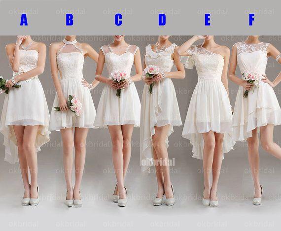 Ooh, I like E lace bridesmaid dresses mismatched bridesmaid dresses by okbridal, $129.00