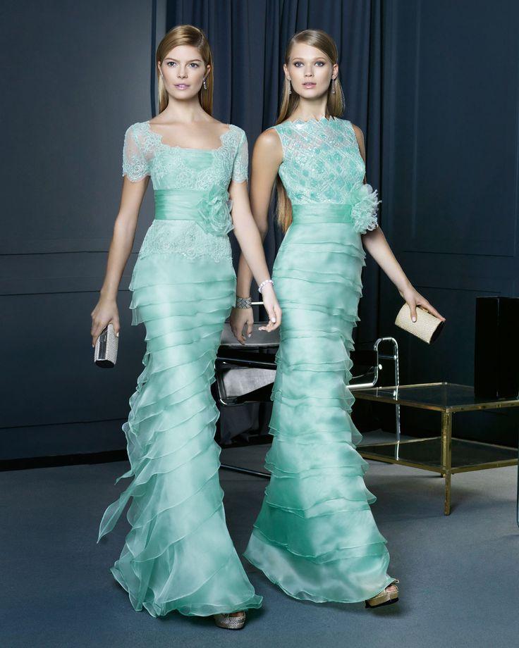 este color acqua lucirá perfecto en las madrinas de boda!