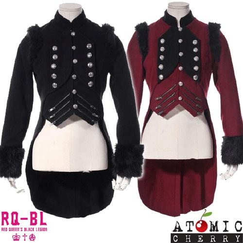 RB BL Military Steampunk Jacket Coat Tuxedo Tails Punk Retro Gothic Costume Rock | eBay