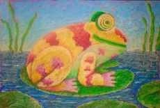 Draw this happy-faced Hawaiian frog and learn some techniques for using oil pastels. Only $6 give you a complete lesson in both video and powerpoint formats.