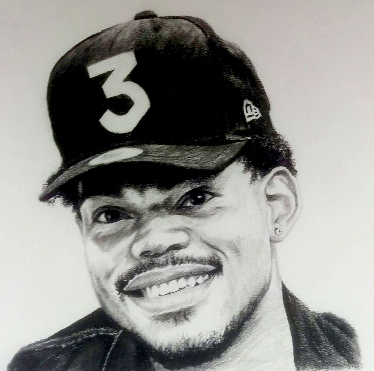 Chance the rapper Drawing by Chris Bardell Instagram @chrisbardellart