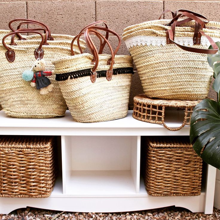 We love these French market baskets, perfect for trips to the market or beach! Stylize them with pom poms, tassels, paint, trims...we got it in every style you want! #lovesummer #frenchmarket