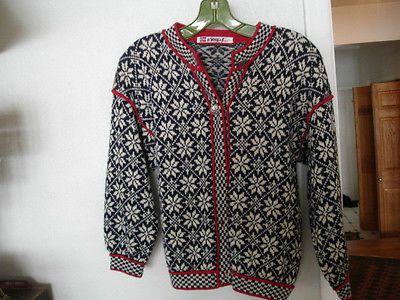 Vintage-Norwegian-Wool-Sweater-Vigdis-Design-Norway-Size-S
