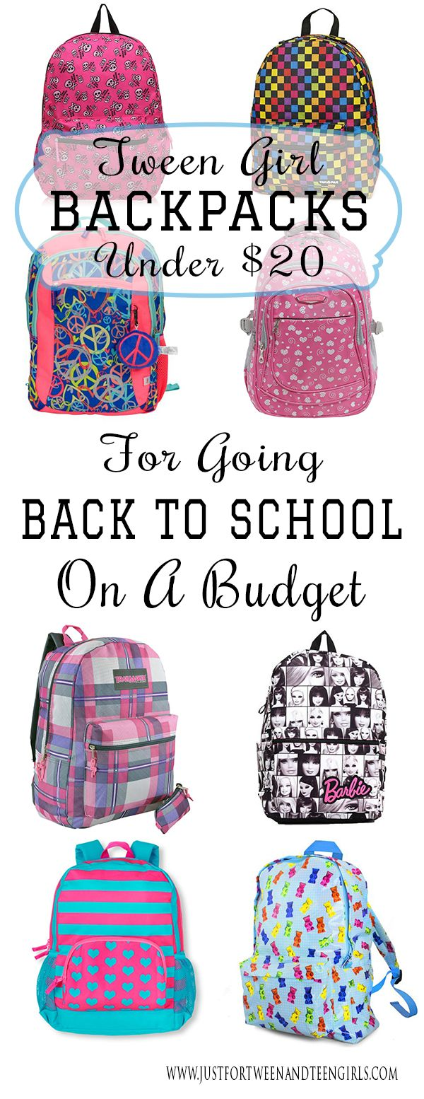 Tween Girl Backpacks Under $20 For Going Back To School On A Budget