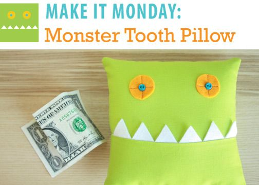 monster tooth fairy pillow: Tooth Pillows, Tooth Fairies Pillows For Boys, Kids Crafts Idea For Boys, Kids Stuff, Monsters Pillows, Pillows Tutorials, Crafty Things, Cute Idea, Monsters Tooth