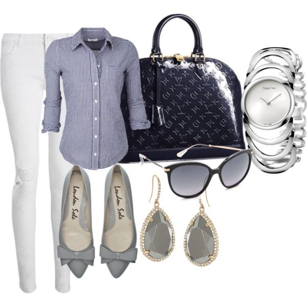 A fashion look from September 2014 featuring Whistles jeans, Louis Vuitton handbags and Calvin Klein watches. Browse and shop related looks.