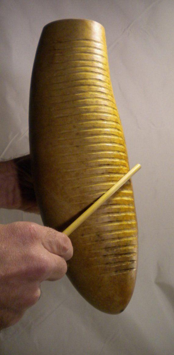 Güiro, is a Latin-American percussion instrument.
