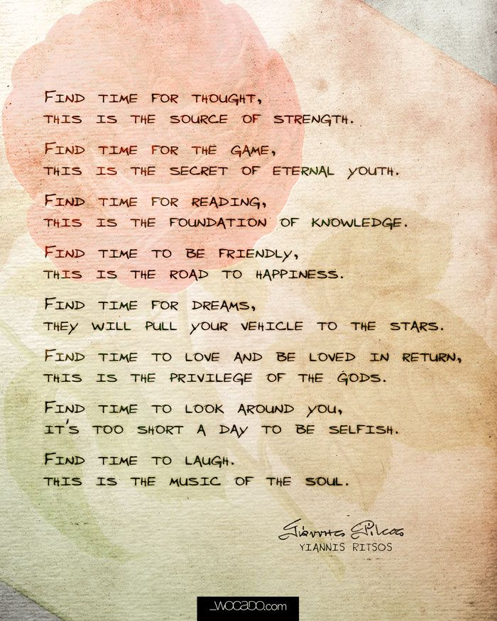 Find Time by Yannis Ritsos ~ 8x10 Printable by WOCADO  A wonderful quick reading by famous greek poet Yannis Ritsos Subscribe to wocado and buy with 50% DISCOUNT